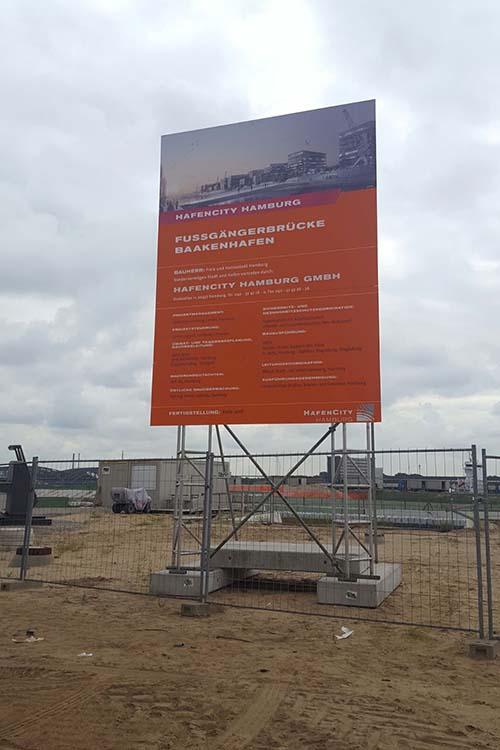 Bauschildmietsysteme Hafencity Hamburg