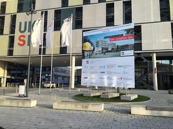 UKSH Bauschilder für Kiel und Lübeck