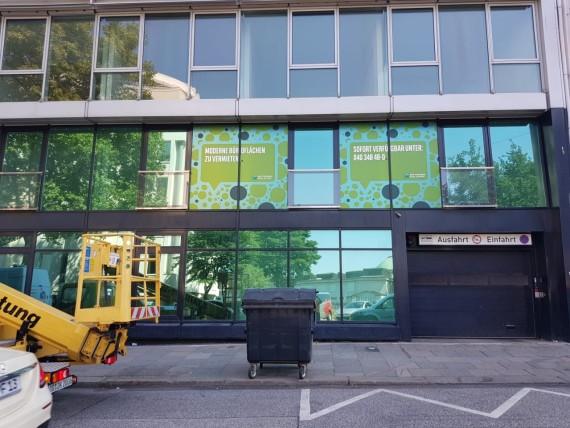 Fensteraufkleber in Hamburg