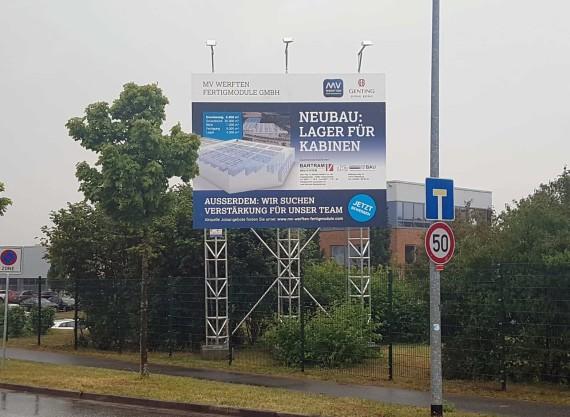 Bauschildmietsystem Wismar